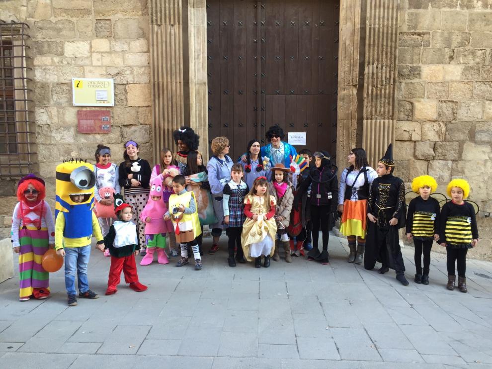 Fiesta de carnaval en Fonz el pasado año.