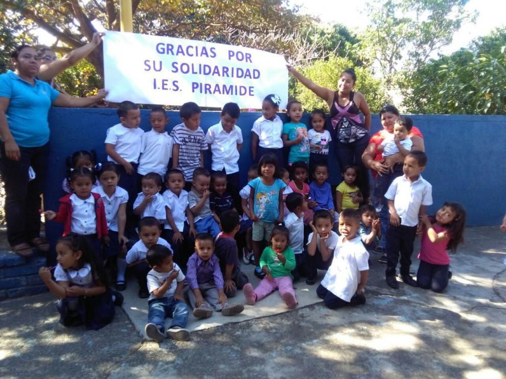 Niños de los centros de educación infantil que mantiene la ONG Monegros con Nicaragua en Ocotal