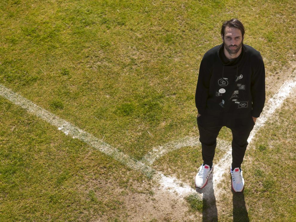 Georgios Samaras, ayer sobre la cal de un córner de los campos de la Ciudad Deportiva