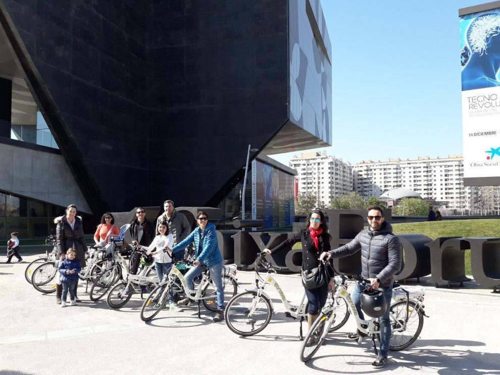 Participantes en la primera ruta del proyecto 'Conectando Museos', el pasado 26 de febrero.