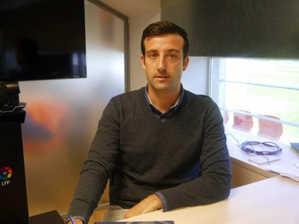 José Maria Barba, en su despacho en el Huesca.
