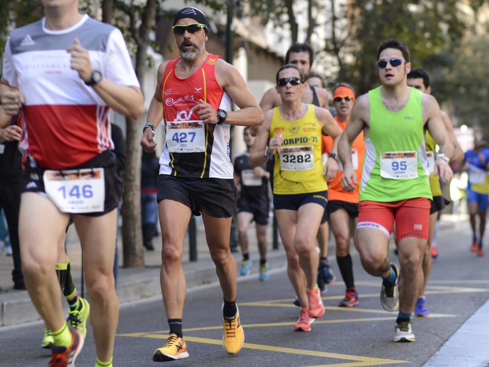 Una imagen de la media maratón de Zaragoza.