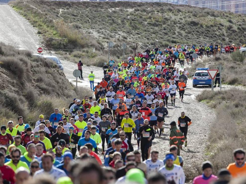 Imagen de archivo de la pasada edición de la Carrera del Ebro.