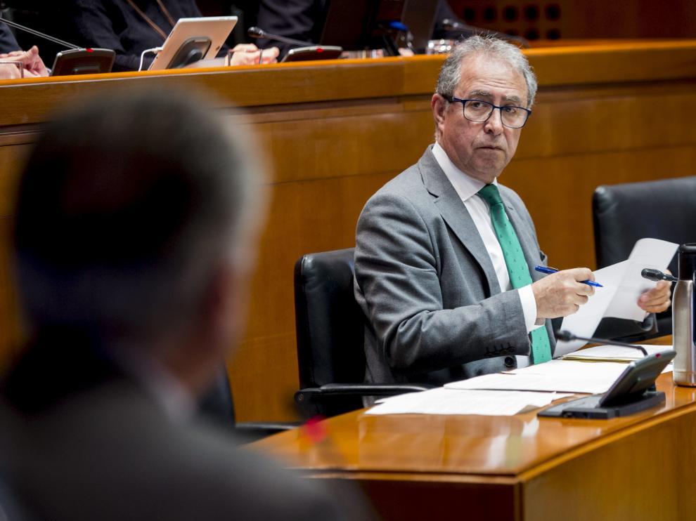 El consejero de Hacienda y Administración Pública del Gobierno aragonés, Fernando Gimeno.