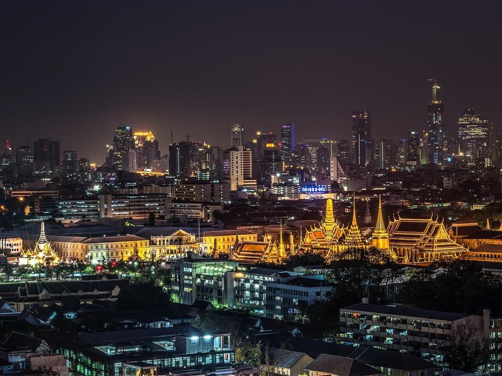 Panorámica de la capital tailandesa, Bangkok