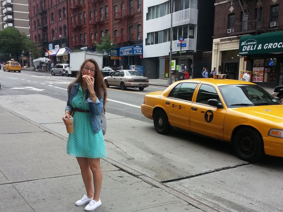 La zaragozana Erika Broto, autora del blog La maleta de una 'au pair', en Nueva York.