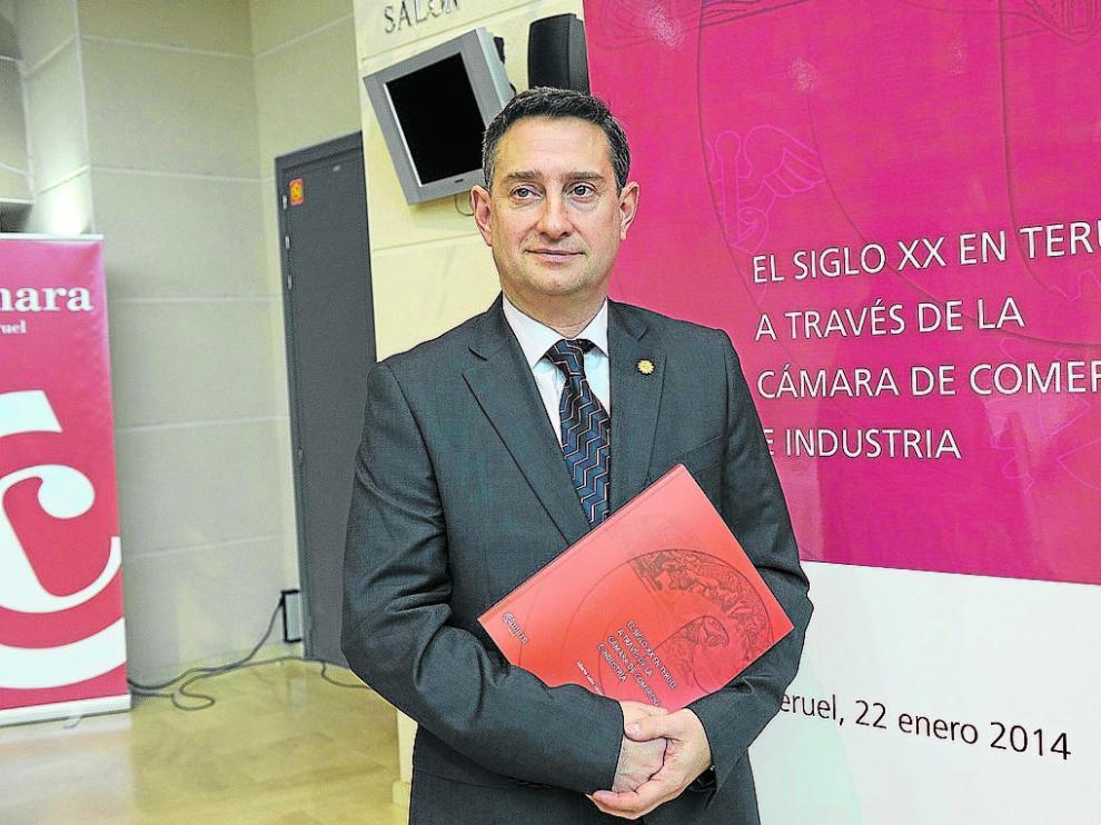 Jesús Blasco, presidente de la Cámara de comercio de Teruel. j