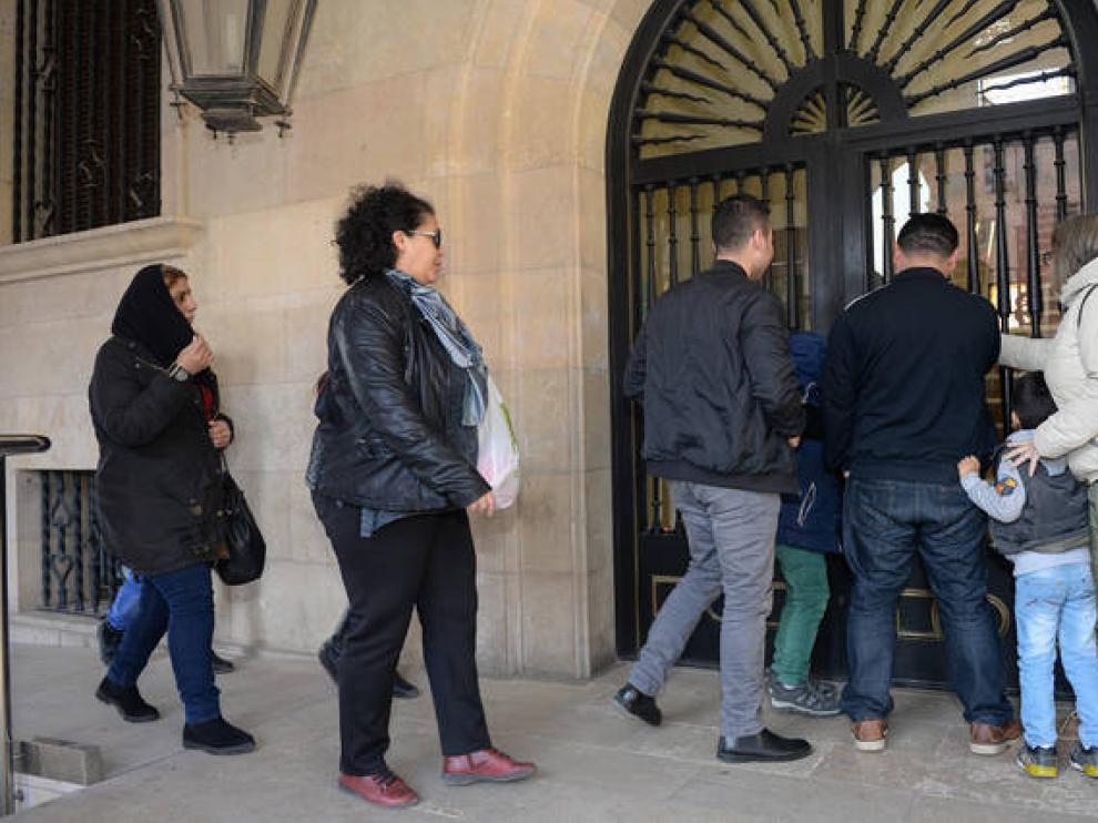 Los refugiados, acompañados por personal de Cepaim, testificaron el pasado domingo.