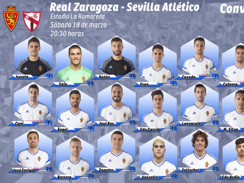 Citación oficial del Real Zaragoza.