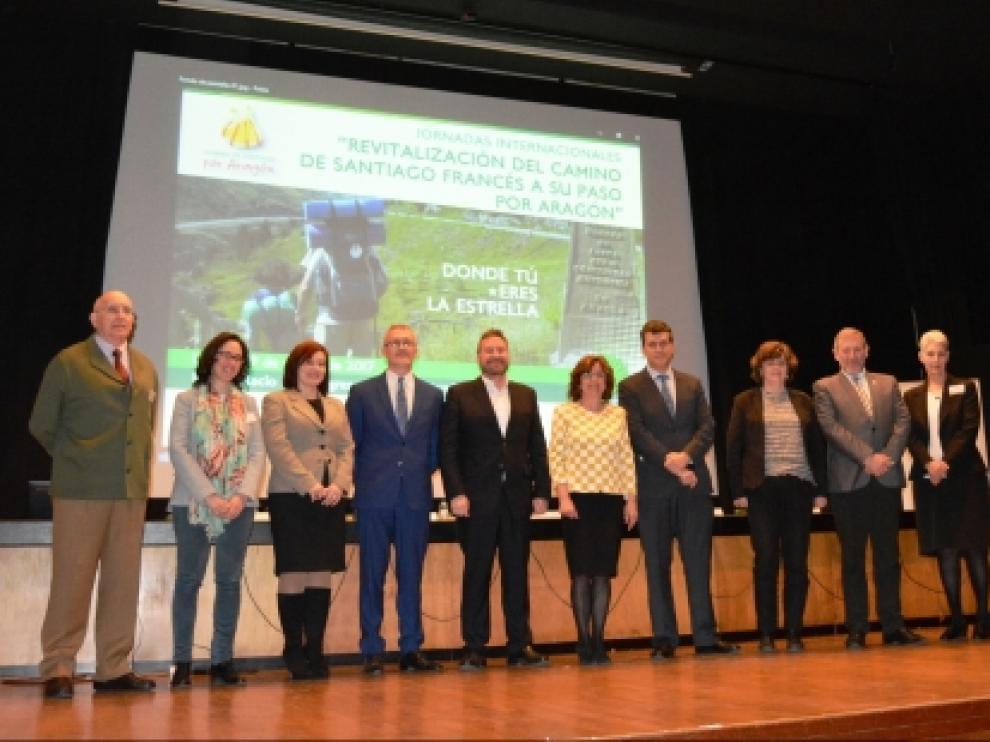 Las Jornadas Internacionales 'Revitalización del Camino de Santiago francés a su paso por Aragón'.