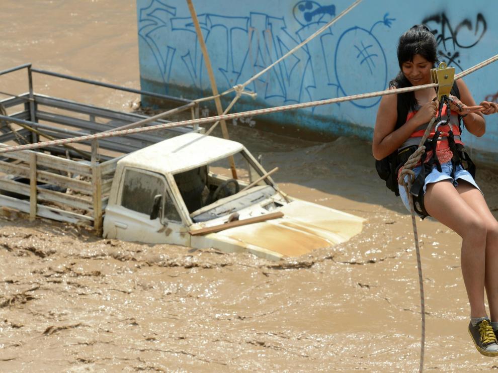 Inundaciones en Lima.