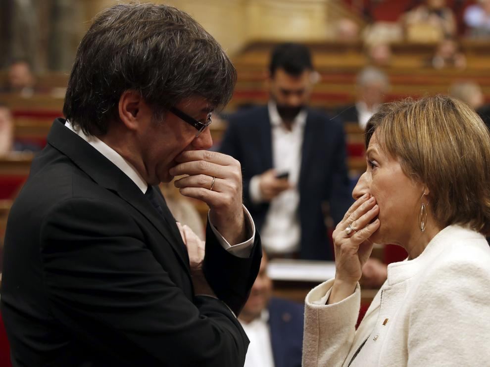 Carme Forcadell y Carles Puigdemont.