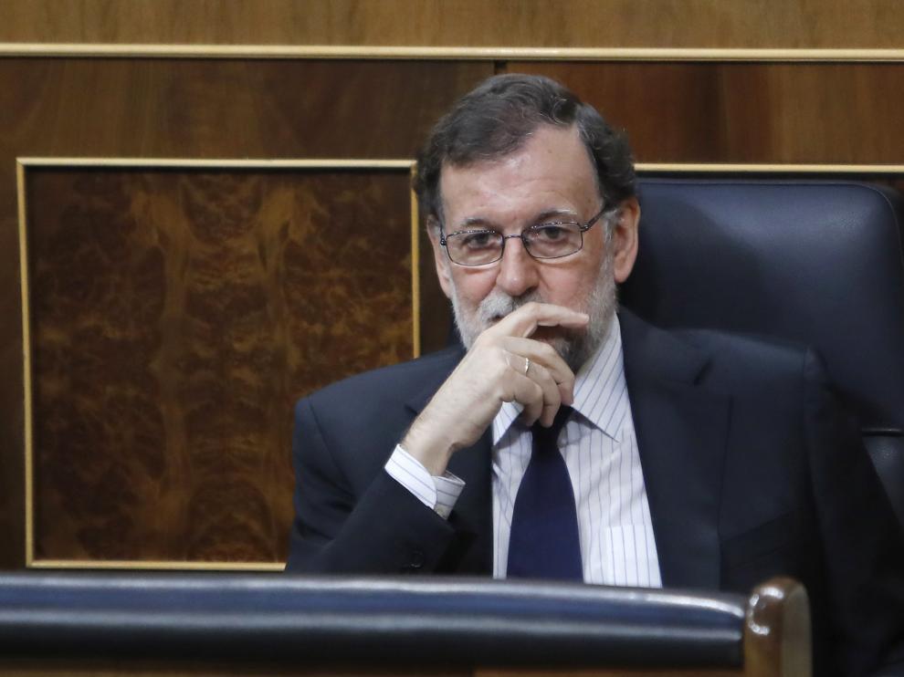 Mariano Rajoy en la sesión de control al Gobierno celebrada este martes.
