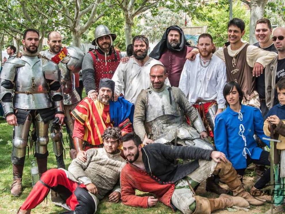 Grupo recreación histórica de Monzón Héroes Legendarios