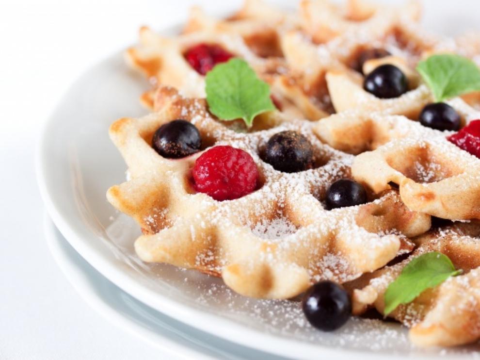 Una de las ventajas de los gofres es que se pueden combinar con cualquier ingrediente, sea dulce o salado.