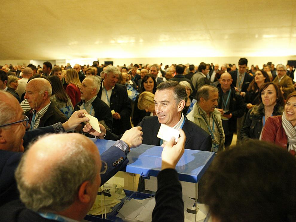Congreso autonómico del PP en el Palacio de los Congresos de Zaragoza.