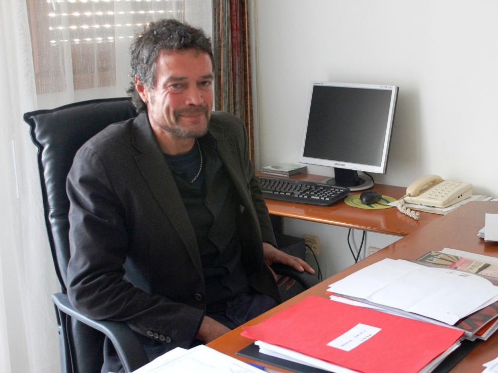 El alcalde de Lalueza, Daniel Périz.