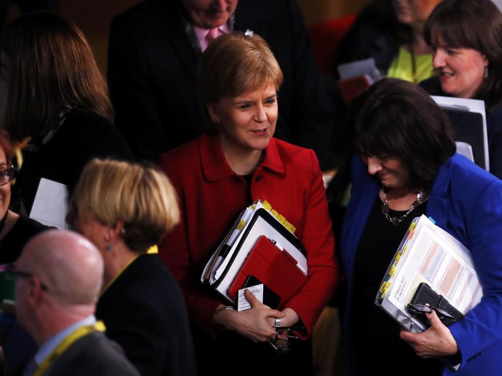 La primera ministra de Escocia, Nicola Sturgeon, en una imagen de archivo.