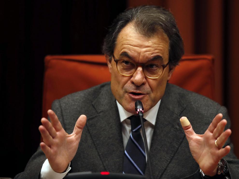 El expresidente, Artur Mas, en el Parlament.