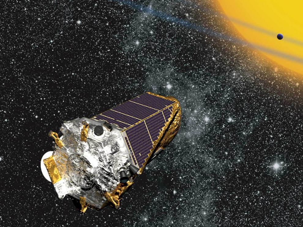 Recreación artística del telescopio espacial Kepler, el mayor descubridor de planetas extrasolares hasta el momento