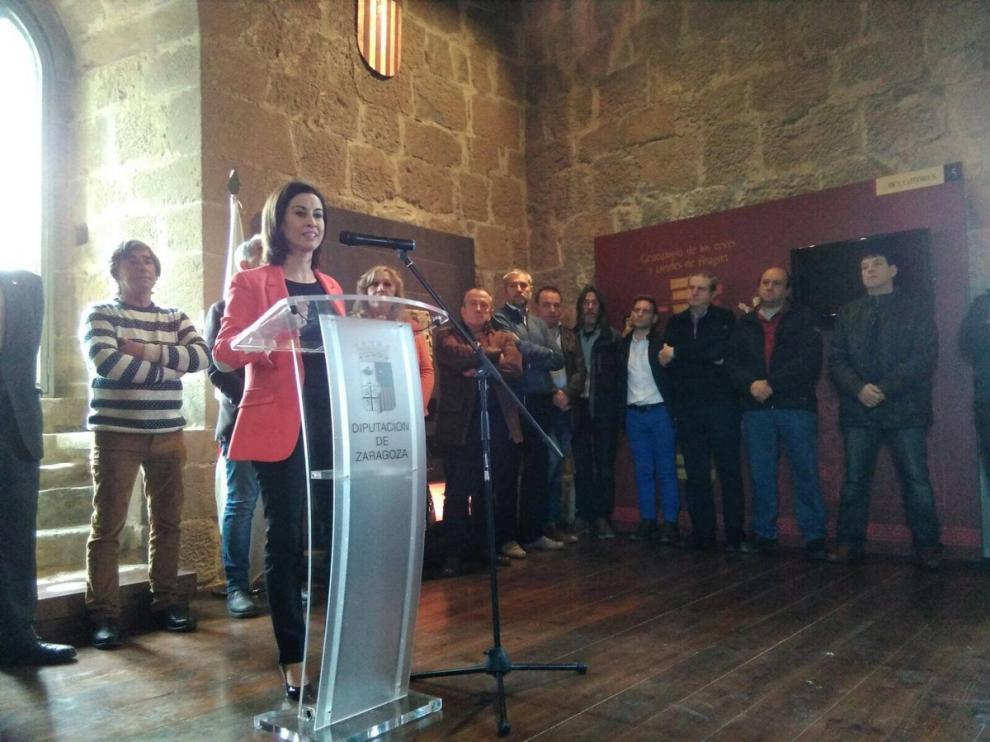 La vicepresidenta primera de la Diputación de Zaragoza, Teresa Ladrero.