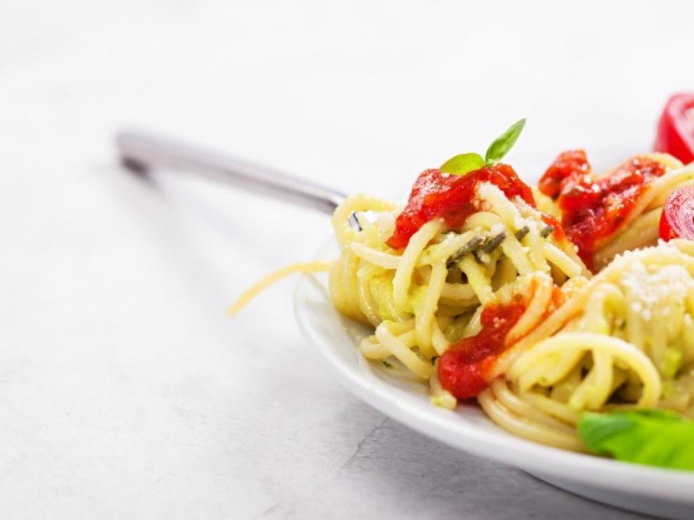 Un plato de pasta resuelve el menú diario.