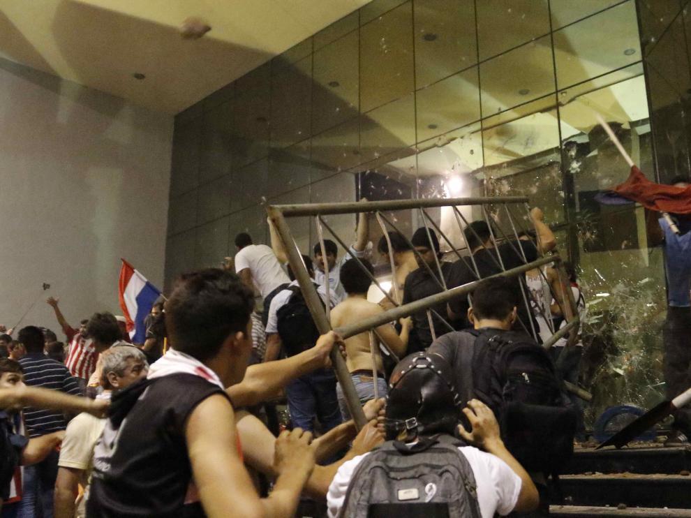 Protestas en Paraguay.