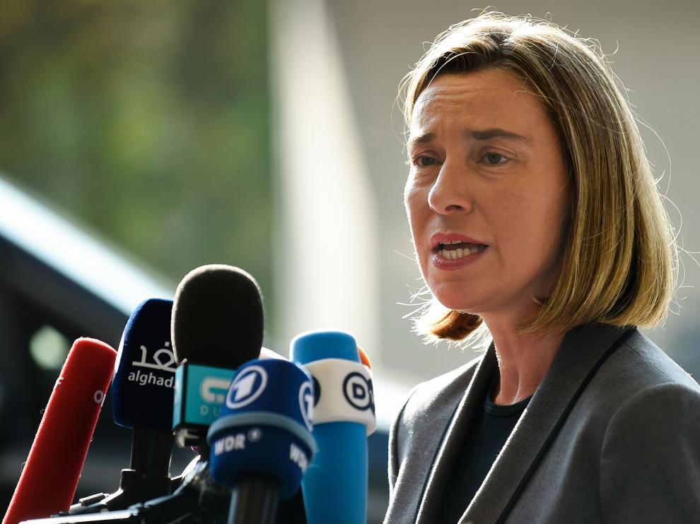 La alta representante de Política Exterior y de Seguridad Común de la UE, Federica Mogherini, en imagen de archivo.
