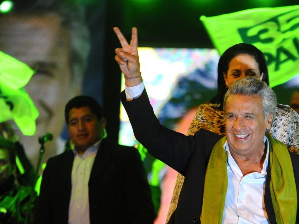 Candidato del movimiento de izquierda Alianza País, Lenín Moreno.
