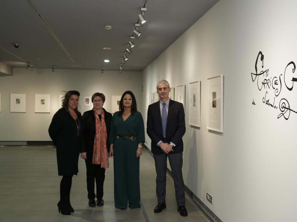 Presentación de la exposición 'Los caprichos de Goya de Dalí. Obra gráfica de Salvador Dalí',  en el Museo Goya.