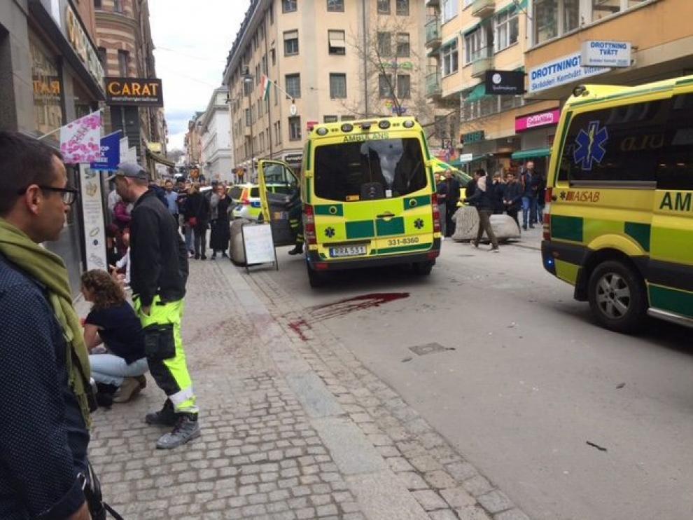 El centro de Estocolmo, donde se ha producido el ataque.