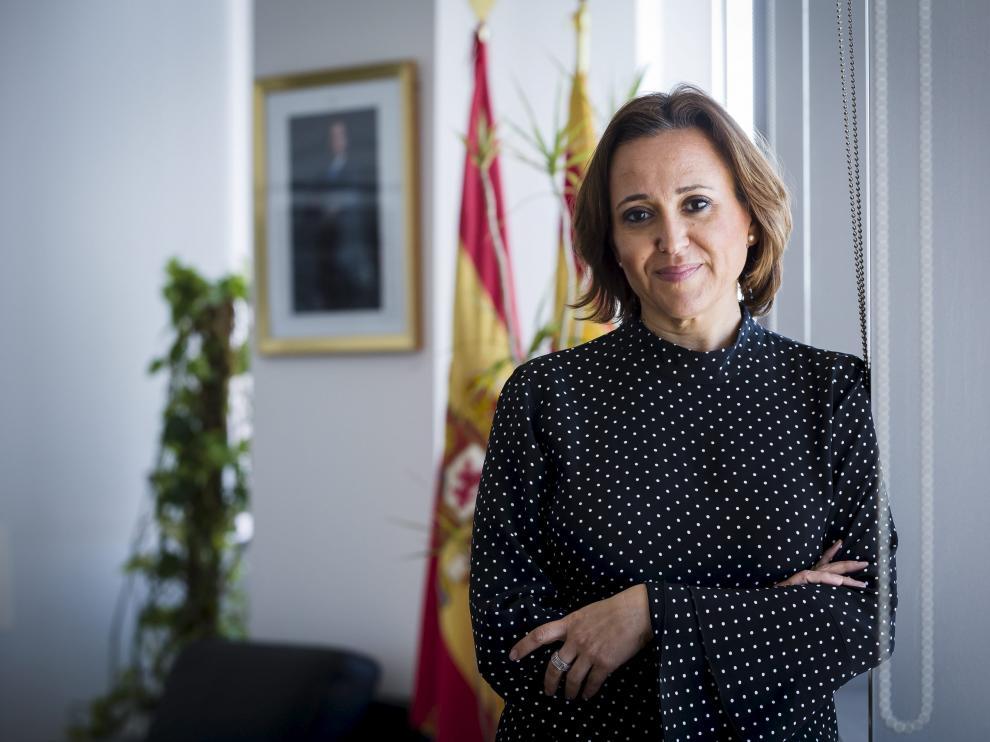 La consejera de Educación, Cultura y Deporte del Gobierno aragonés, Mayte Pérez
