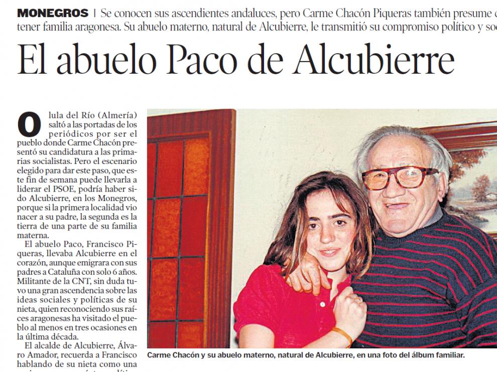Reportaje publicado en HERALDO DE ARAGÓN el 1 de febrero de 2012.