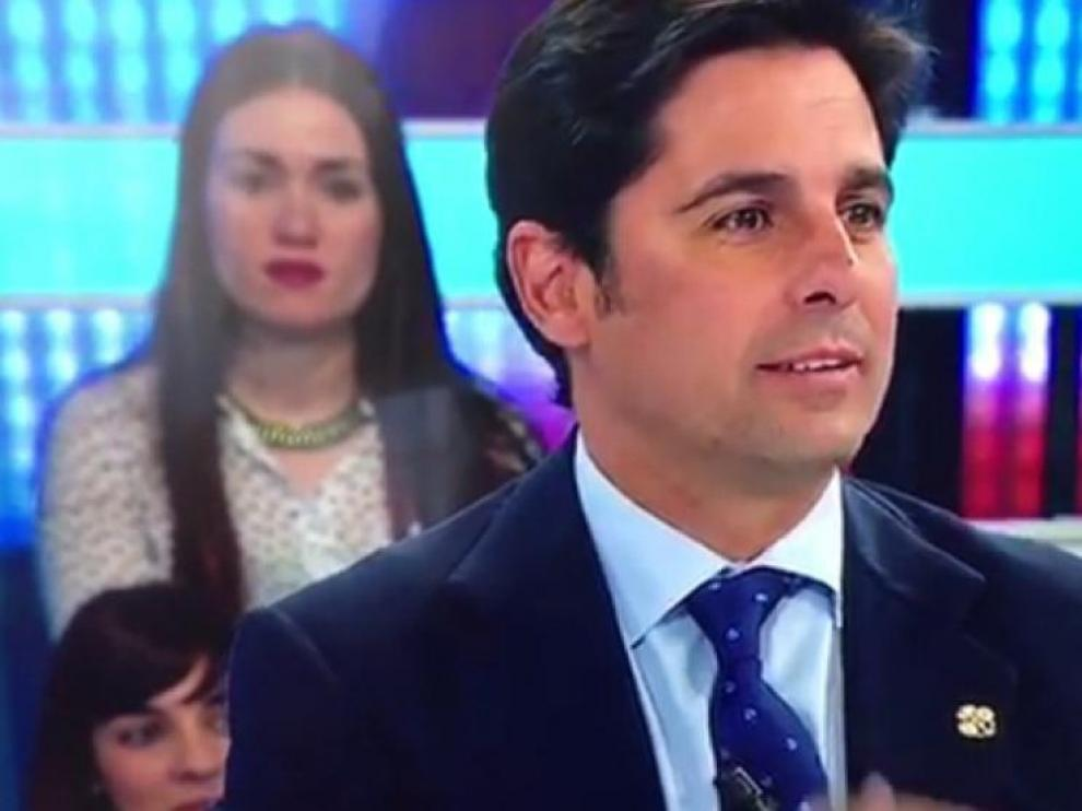 El torero Fran Rivera en el programa de Antena 3 'Espejo público' este martes.