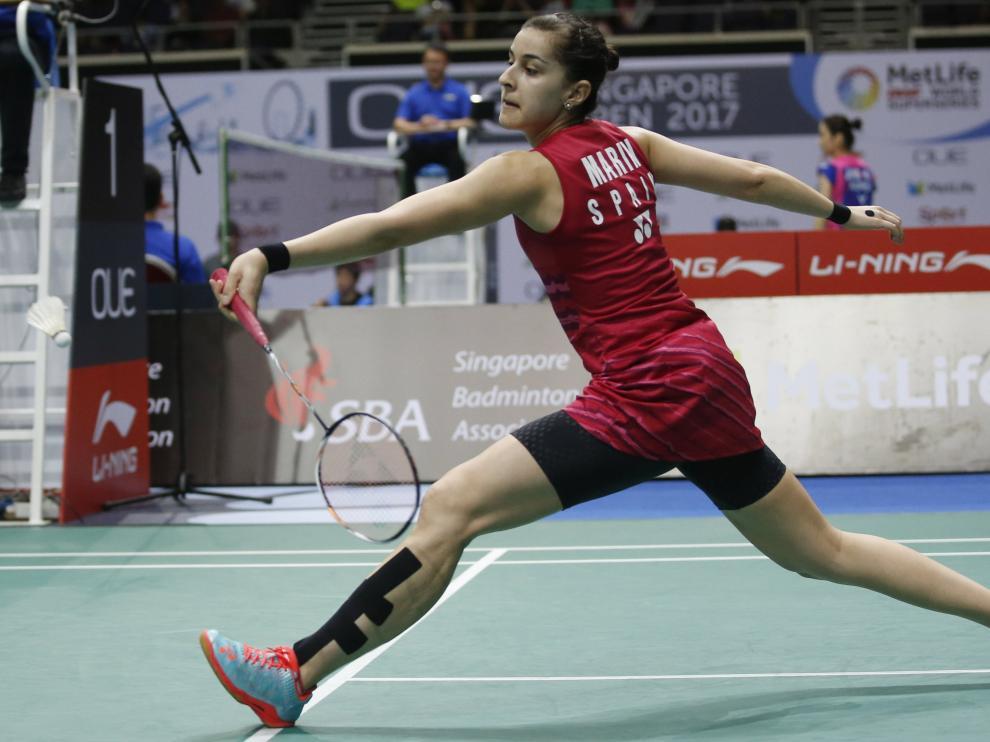 Carolina Marín se gana un puesto en la final del abierto de Singapur