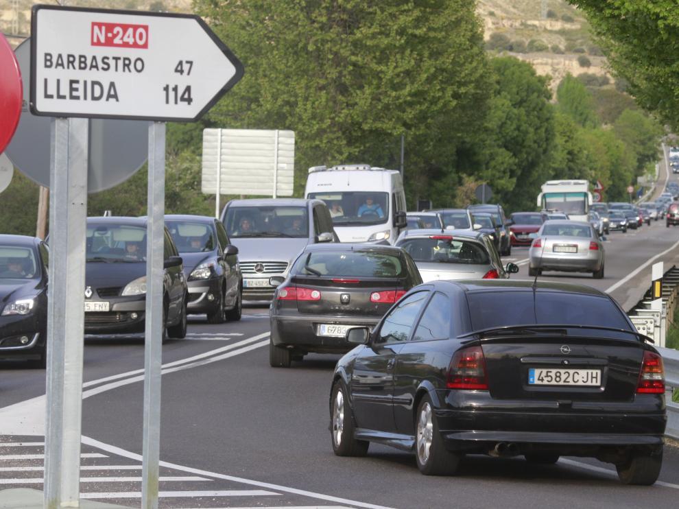 Tráfico en Huesca.