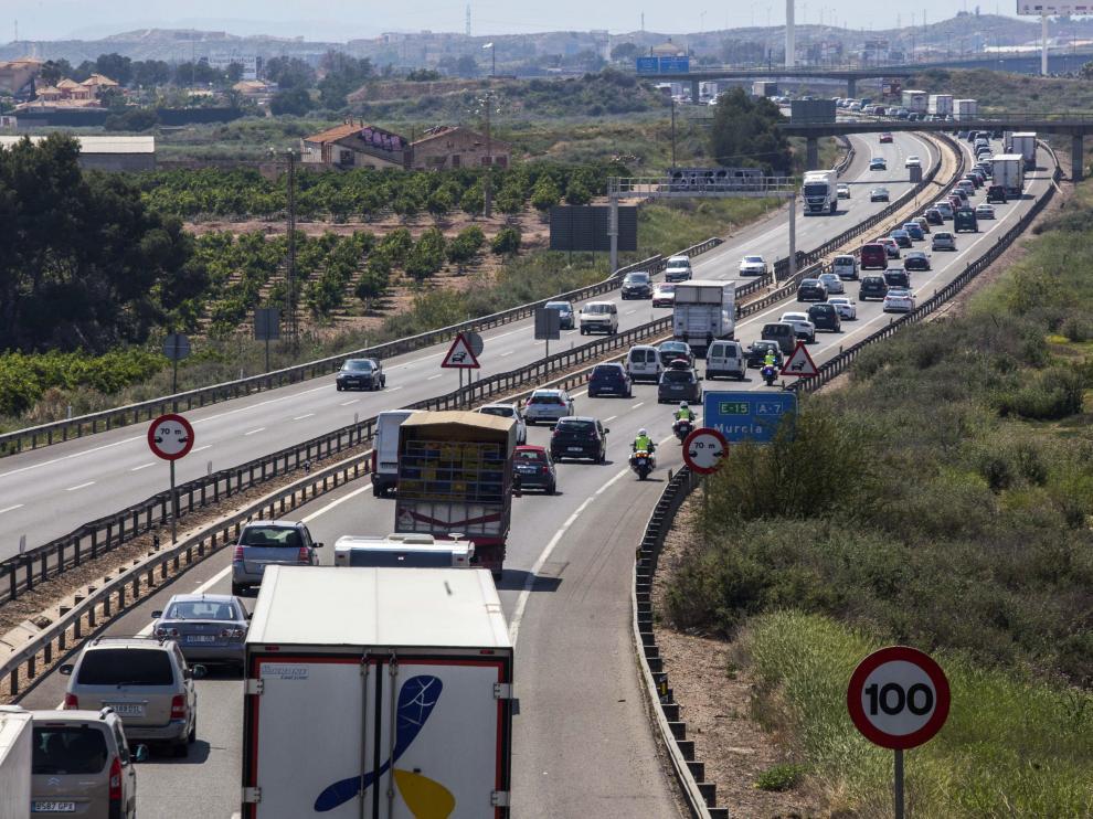 Tráfico en la autovía de Alicante