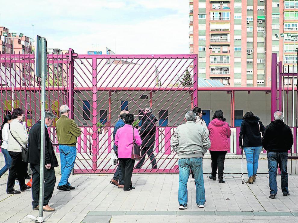 Aspecto de uno de los colegios públicos de Zaragoza