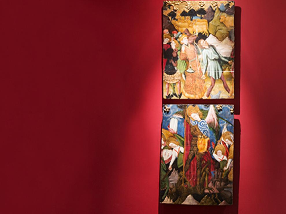 Obras expuestas en el Alma Mater Museum.