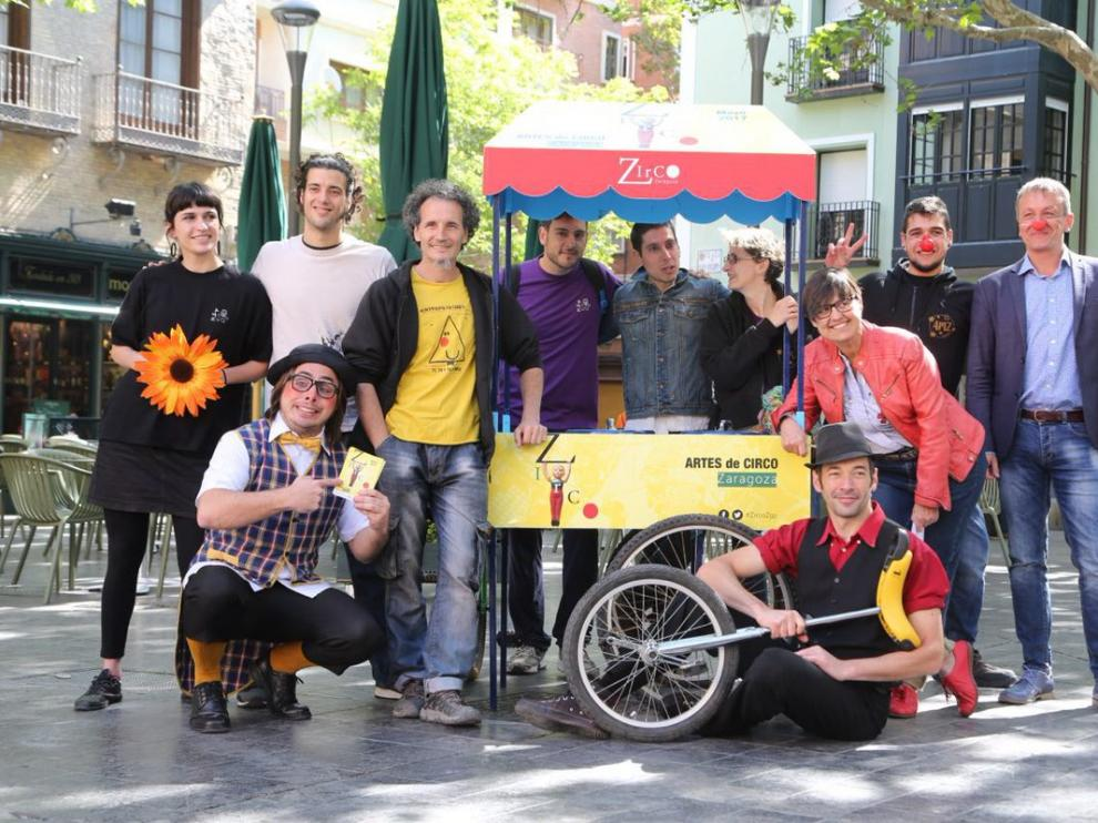 Zirco se ha presentado este martes en la plaza de San Felipe de Zaragoza