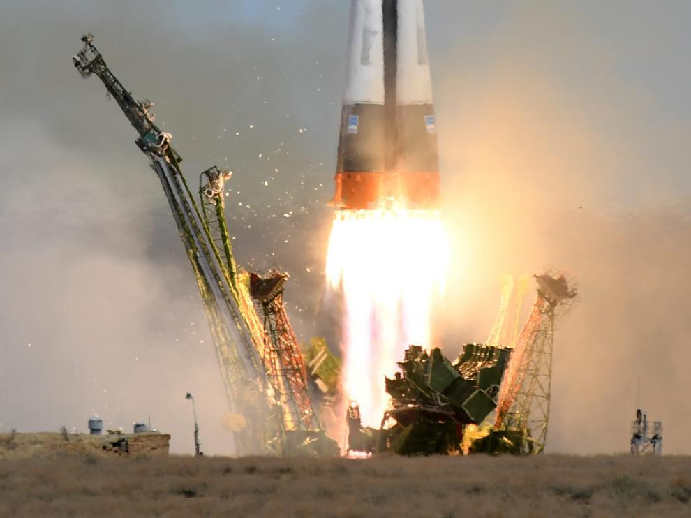 La nave rusa Soyuz MS-04 despega rumbo a la Estación Espacial Internacional