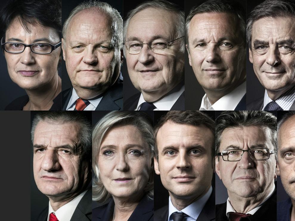 Candidatos a las elecciones del próximo domingo.