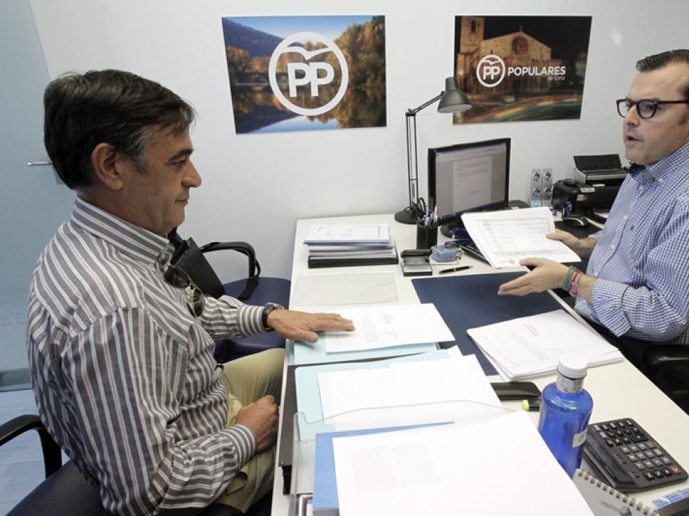 Antonio Pardo durante la presentación de sus avales para ser precandidato a la presidencia del Partido Popular en Soria