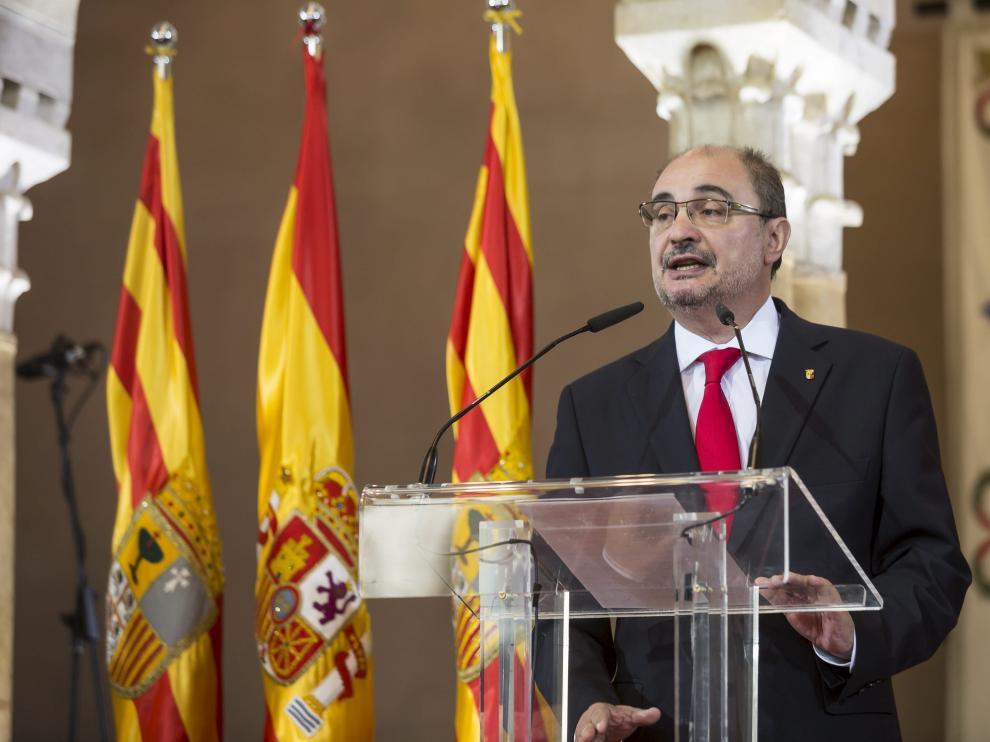 El presidente del Gobierno de Aragón, Javier Lambán, en una foto de archivo.