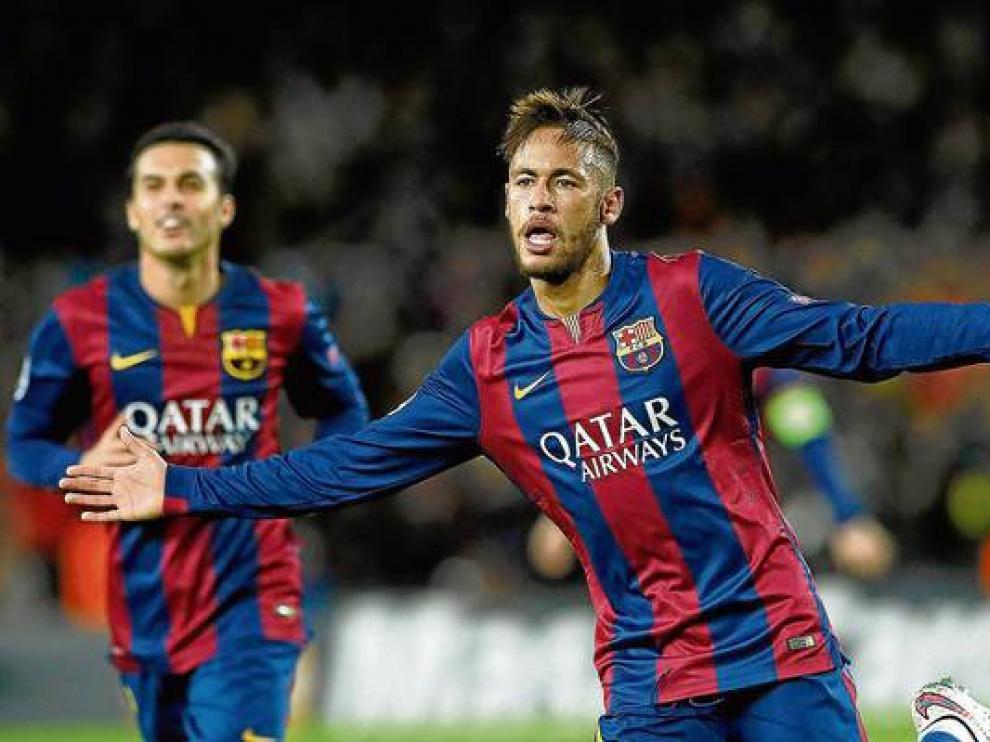 Neymar, en un partido de la pasada temporada