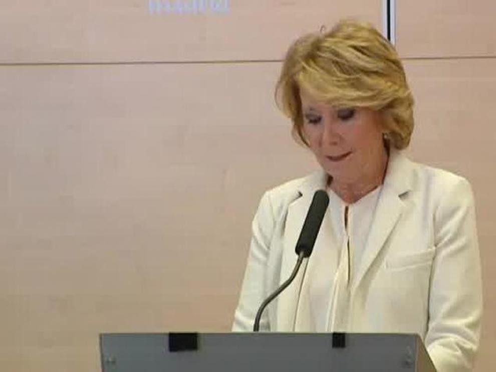 La expresidenta madrileña Esperanza Aguirre.