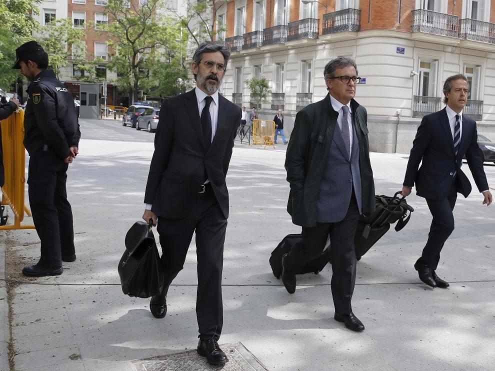 Jordi Pujol Ferrusola, el primogénito del expresidente catalán, antes de comparecer este martes en la Audiencia Nacional.