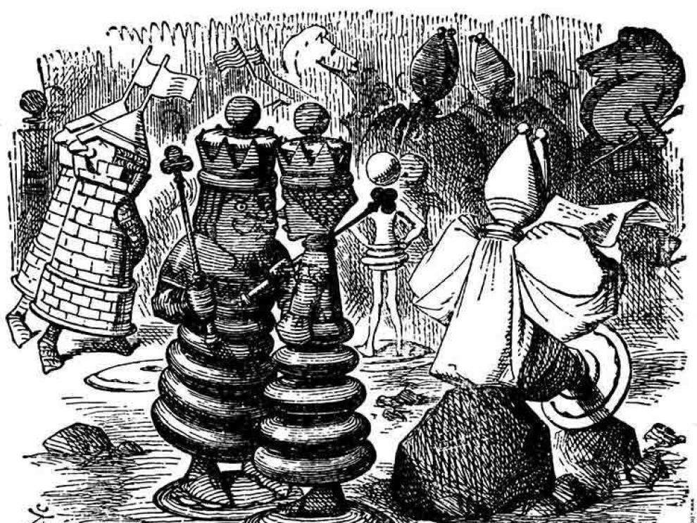 El ajedrez está muy presente en 'Alicia en el país de las maravillas'