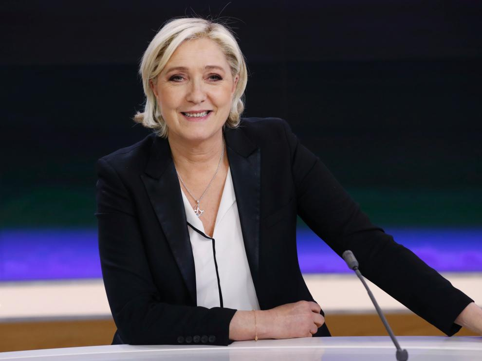 Marine Le Pen, antes de su comparecencia en 'France 2'.