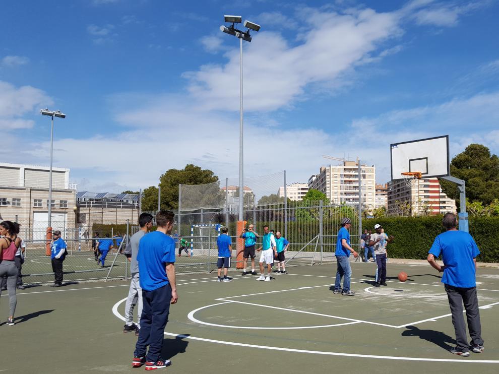 Personas sin techo, las instalaciones deportivas de La Granja.